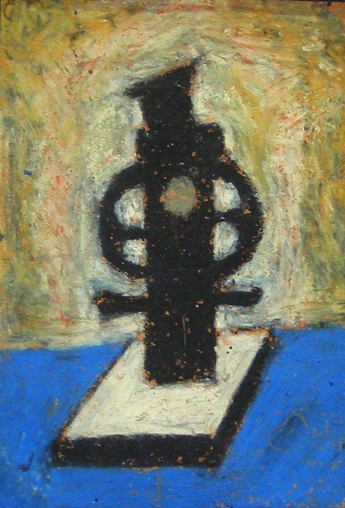 Marginalia I. Oil and oil pastel on paper. 10 x 15 cm. 2008