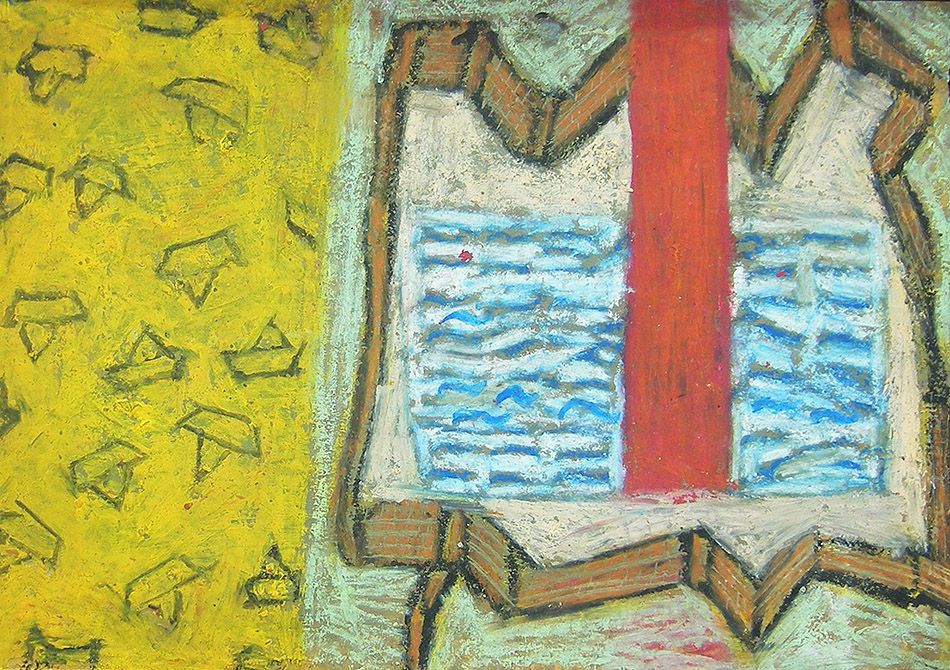 Marginalia XI. Oil and oil pastel on paper. 15 x 21 cm. 2008