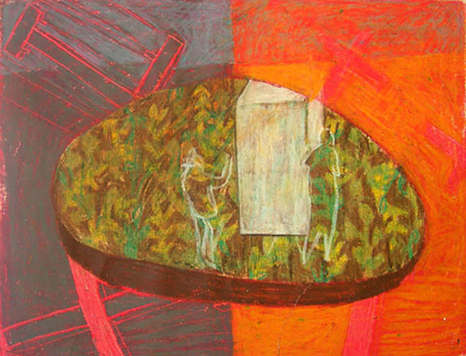 Marginalia XV. Oil and oil pastel on paper. 29.5 x 21 cm. 2008