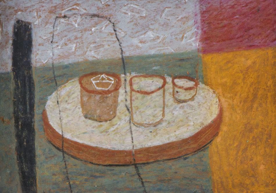 Marginalia III. Oil and oil pastel on paper. 15 x 21 cm. 2008