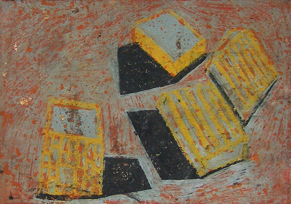 Marginalia VI. Oil and oil pastel on paper. 12 x 17 cm. 2008