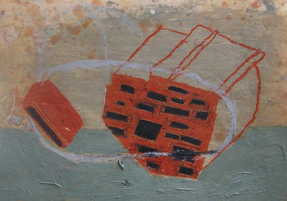 Marginalia VIII. Oil and oil pastel on paper. 15 x 21 cm. 2008