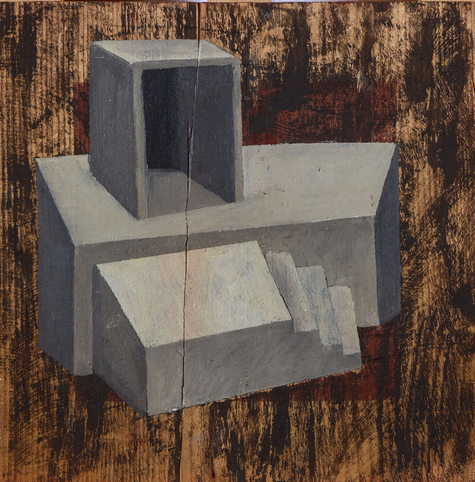 Blind Spot 1. Oil on wooden panel. 30 x 30 cm. 2009