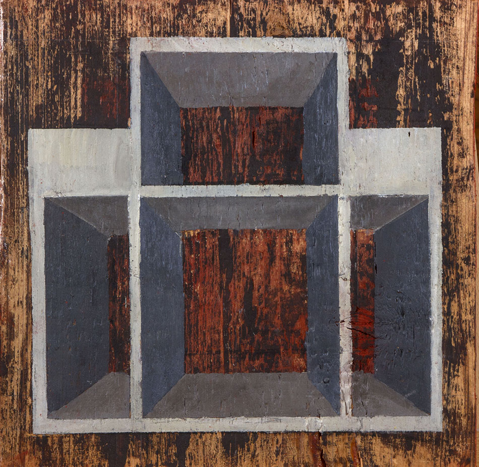 Blind Spot 4. Oil on wooden panel. 30 x 30 cm. 2009