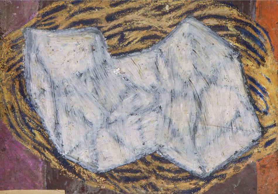 Marginalia XVIII. Oil and oil pastel on paper. 2008