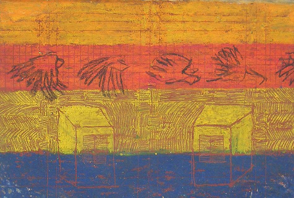 Marginalia IV. Oil and oil pastel on paper. 14 x 21 cm. 2008