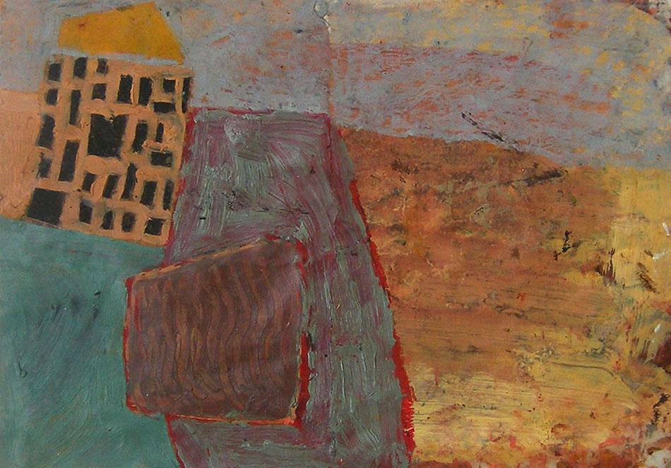Marginalia VII. Oil and oil pastel on paper. 15 x 21 cm. 2008