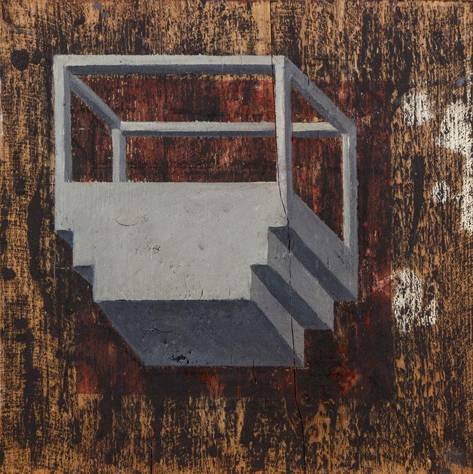 Blind Spot 2. Oil on wooden panel. 30 x 30 cm. 2009