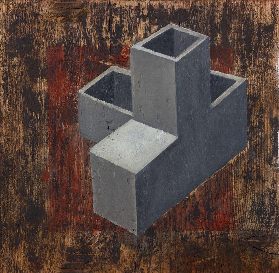 Blind Spot 3. Oil on wooden panel. 30 x 30cm. 2009