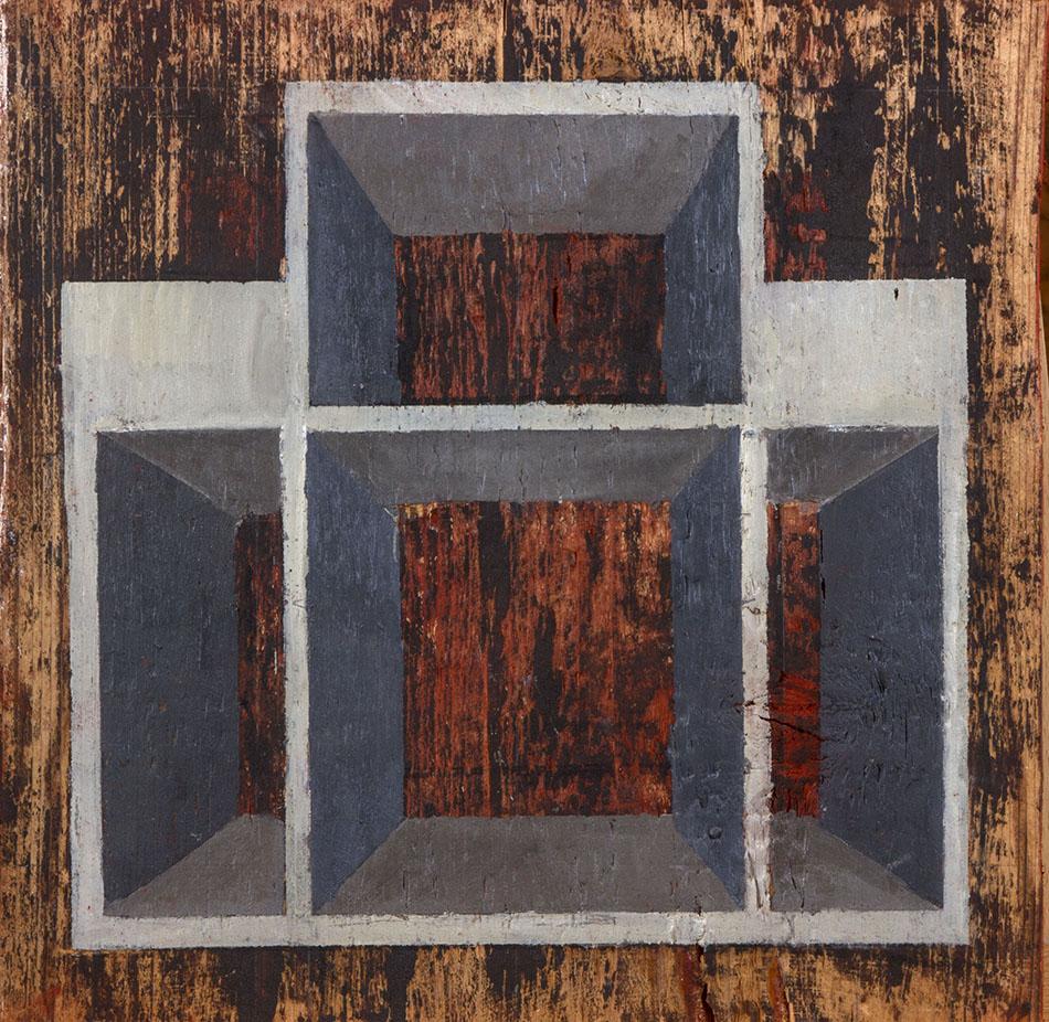 Blind Spot 4. Oil on wooden panel. 30 x 30 cm. 2009