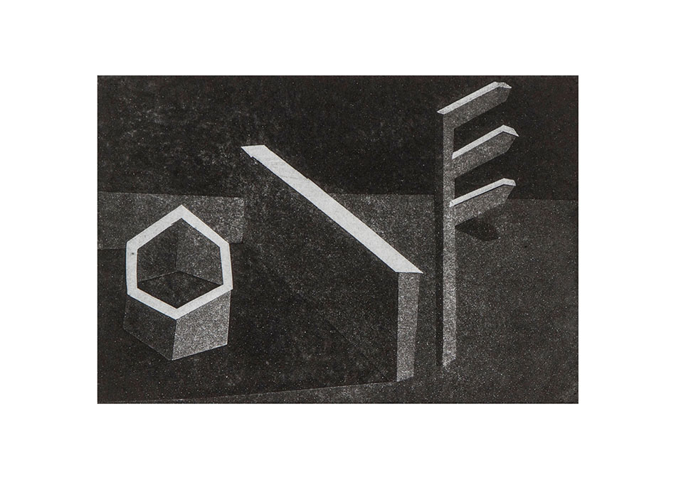 Construction Site 1. Aquatint (artist proof). 19 x 13 cm. 2010