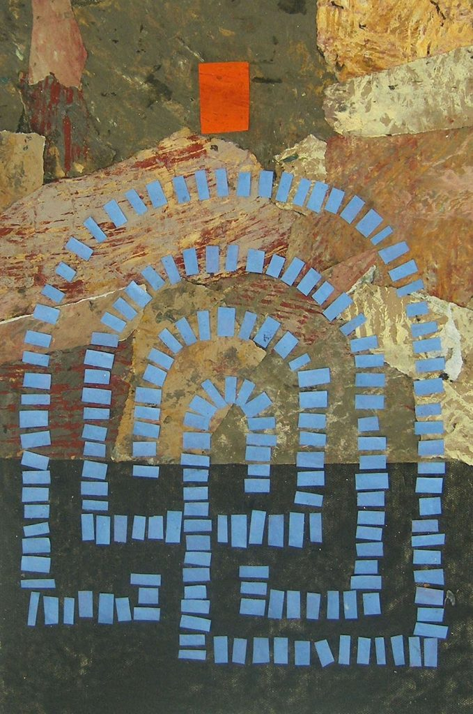 Hermeneutic Circle iv. Oil and collage on canvas. 46 x 32 cm. 2008