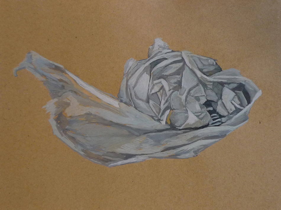 Simulacra i. Gouache on brown paper. 2010