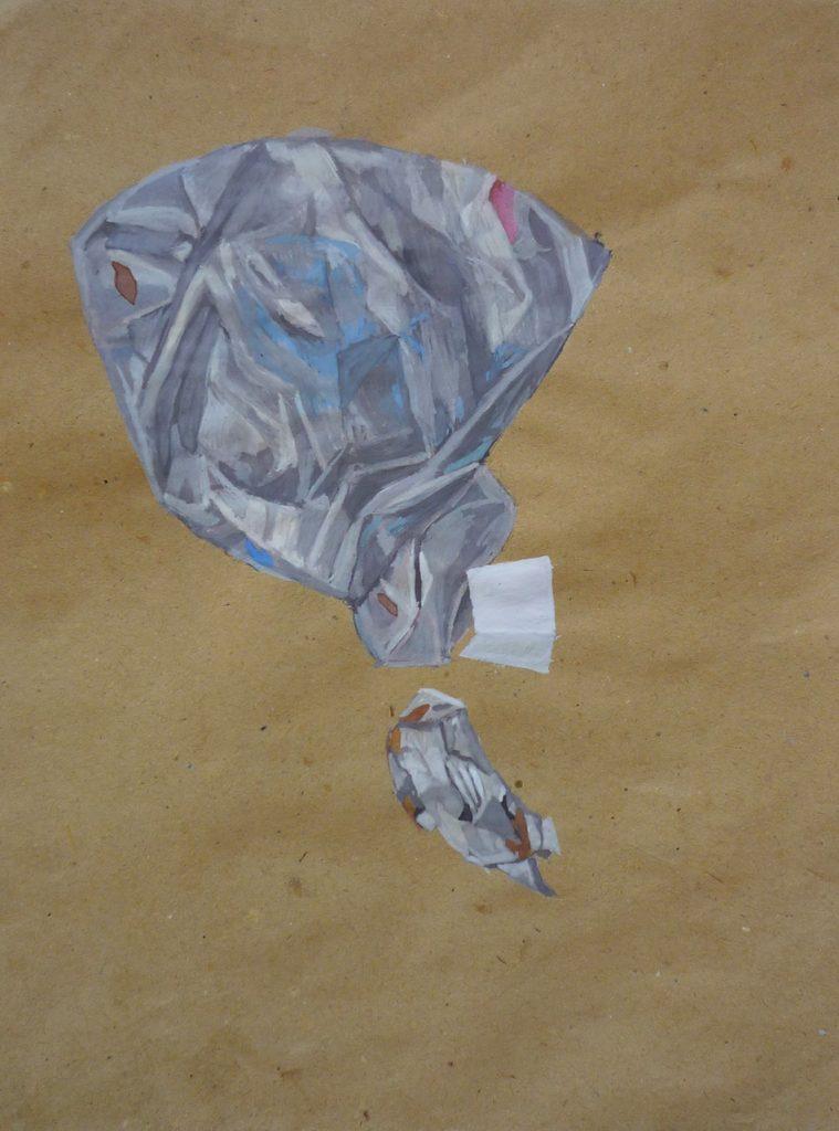 Simulacra ii. Gouache on brown paper. 2010
