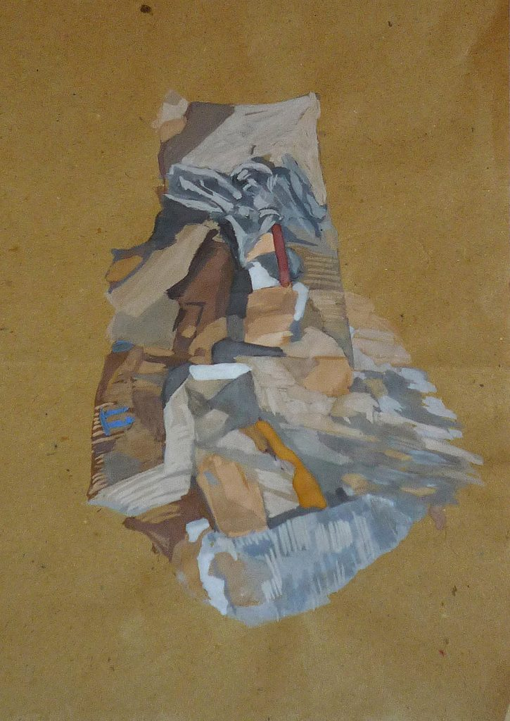 Simulacra iii. Gouache on brown paper. 2010