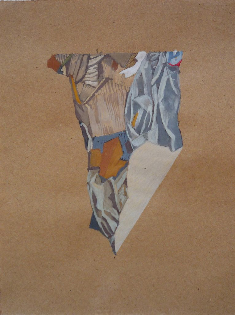 Simulacra iv. Gouache on brown paper. 2010