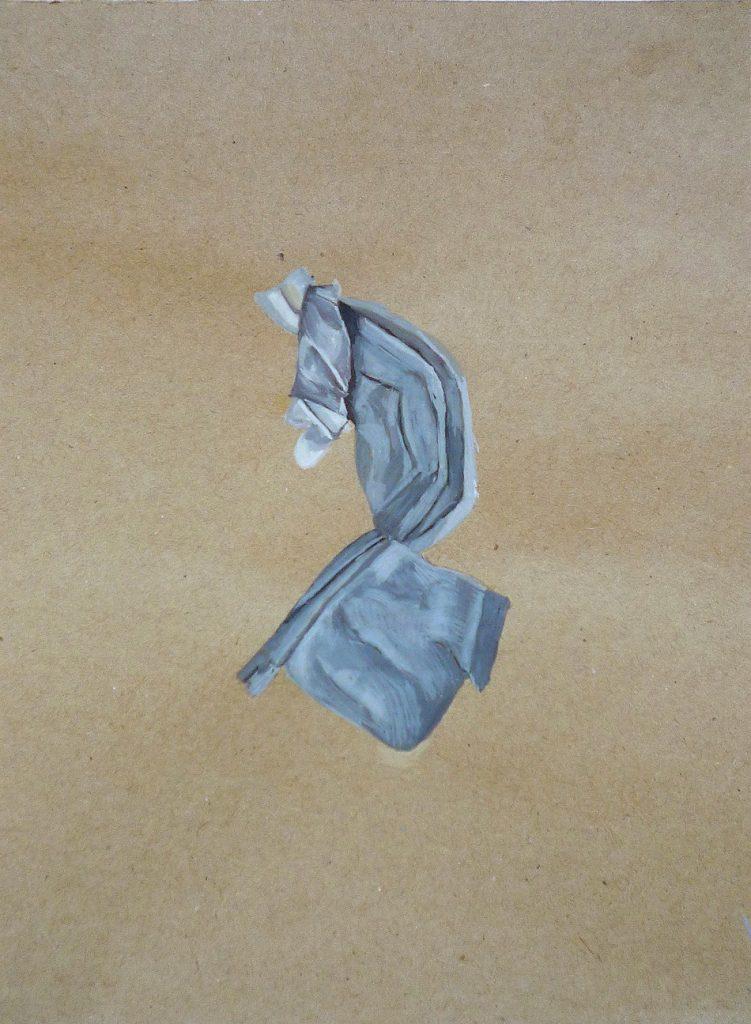 Simulacra v. Gouache on brown paper. 2010