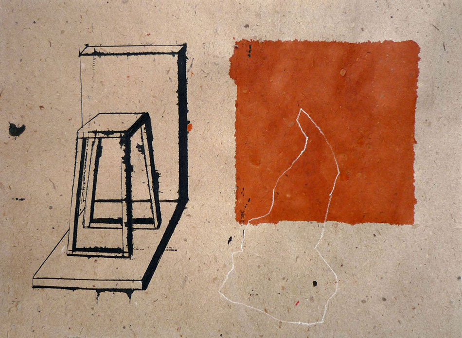 What is a box no. 4.  Ink and pencil on paper.18 x 25 cm. 2009